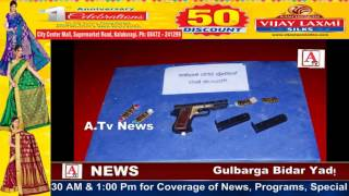 Gulbarga Police 4 Rowdy Sheeters Arrested A.Tv News 4-8-2017
