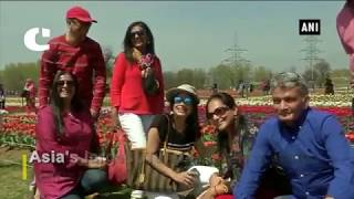 Asia's Largest Tulip Garden Opens for Tourists
