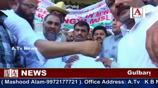 Gulbarga me strong protest against Myanmar A.Tv News 8-8-2017