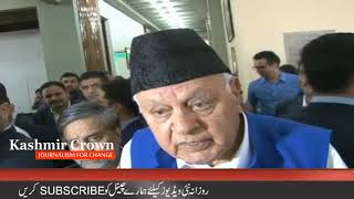 Killings in Kashmir must stop Member Parliament Farooq Abdullah