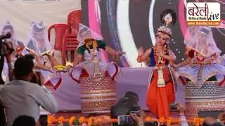 सीएम योगी पहुंचे बरसाना, देखी रासलीला और लठ्ठमार होली (CM Yogi in Barsana for lathmar holi)