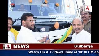 Dr sharanprakash Patil & ilyas Saith inaugurate The New Buses A.Tv News 1-1-2018
