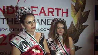 Mrs INDIA Earth 2017 Runners Namrta Josi & Smriti Panchal