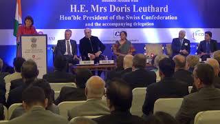 Swiss President Doris Leuthard & Nirmala Sitharaman