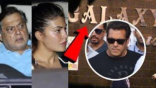 Salman Khan's Close Friends Jacqueline And David Dhawan Meets Salman's Parents At Galaxy Apartment