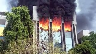 Fire broke out in Vivah-3 flat located in front of Navrangpura police station in Ahmedabad