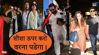 Saif gets Angry on Reporter after Returning from Jodhpur