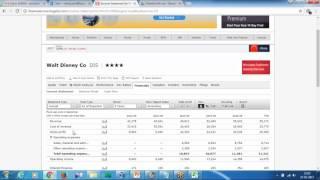 Tableau Real Data Analysis Walt Disney Income Statement