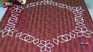RANGOLI Design With 11middle DOTS Diamond Rangoli Designs With Dots | rectv  india
