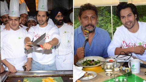 Varun Dhawan Promoting His Movie October In Chef Uniform