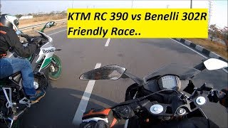 KTM RC 390 vs Benelli 302R. Friendly Race. Part 2.