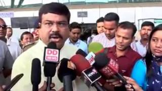 Reaction of Sri Dharmendra Pradhan on the 1st success of Panchayat Election in Odisha