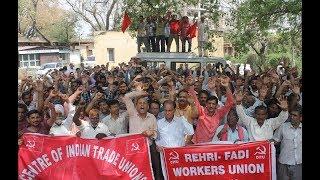 Rehri-Fadi Union continues protest against Traffic Police