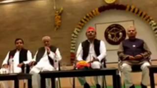 Press Meet of Akhilesh Yadav, CM UP