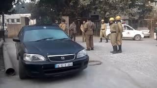 Hindu Ravo Hospital Gas leakage in a car
