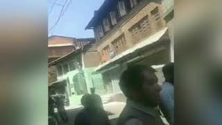 Heavy Fire Damages Dozens Of Houses In Down Town Area Of Maharaja Ganj area of Srinagar on Saturday.