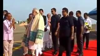 #PM Modi Arrives at #International Airport,  #Bhubaneswar
