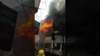 #Fire at #Ravi Bhawan, #Raipur