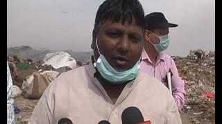 Delhi Minister Visit on landfill site Delhi India / Polution