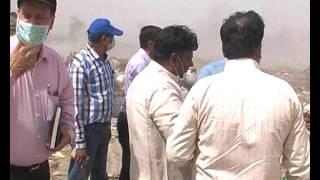 2 Delhi Minister Visit on landfill site Delhi India / Polution