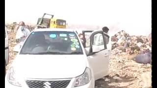 3 Delhi Minister Visit on landfill site Delhi India / Polution