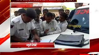 हनुमानगढ़ - ट्रेफिक नियमों का उल्लंघन करने पर एम्बुलेंस ने किया चालान tv24
