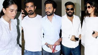 Nikhil Advani's Mother Prayer Meet | Riteish Deshmukh, Suniel Shetty, Saqib Saleem