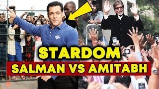 Salman Khan Stardom Vs Amitabh Bachchan Stardom - Comparision