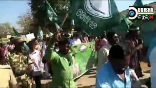 BJD strike at Golamunda Block on MSP rate of Rice