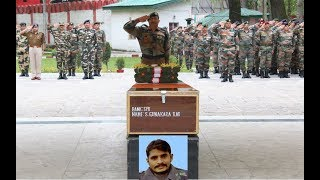 Army pays floral tribute to soldier martyred in Kulgam encounter