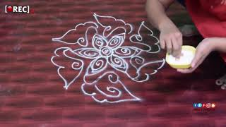 Easy Made Rangoli With Creative Hands  Special Rangoli|rectvindia