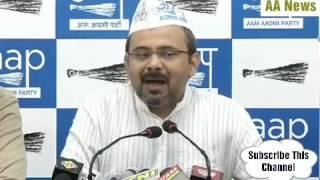 BJP की MCD स्वच्छ भारत अभियान नही बल्कि गन्दा भारत अभियान चला रही है-दिलीप पांडेय AAP
