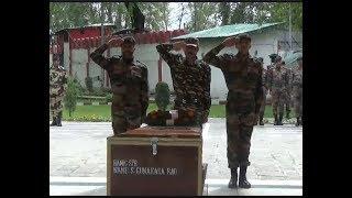 कुलगाम में आतंकियों से लोहा लेते हुए शहीद जवान को सेना का आखिरी सलाम