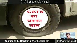 गाडियों की निकली हवा : दिल्ली में अचानक हुई CATS एम्बुलेंस हडताल Dilli me cats ki hadtal