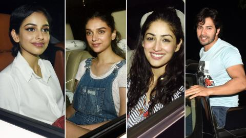 Varun Dhawan, Banita Sandhu, Aditi Rao Hydari, Yami Gautam At Screening Of Movie October