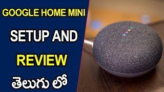 Google home mini setup and review || Telugu Tech Tuts