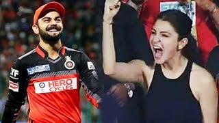 Anushka Sharma In Aggressive Mood, Cheers For Virat Kohli Team RCB | IPL 2018