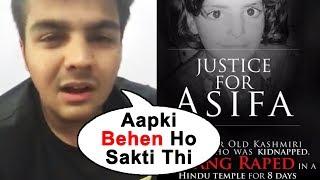 Emotional Ashish Chanchlani Speaks For Asifa | #JusticeForAsifa | Support Asifa