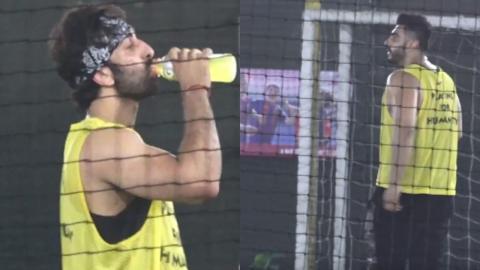 Ranbir Kapoor, Arjun Kapoor Spotted Playing Football At Juhu Ground