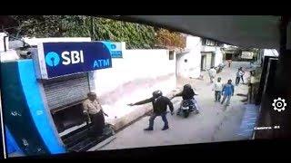 Delhi Kanjhawala Area News : CCTV Attempt to loot ATM cash van