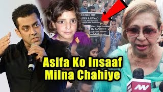 Salman Khan's Stepmother Helen At Protest Demanding Justice For Asifa Kathau Case