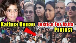 Bollywood Celebs Joins Protest Demanding Justice For Asifa | Kathua And Unnao Case