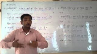 WH- Questions -1      part -  1  English (spoken ) Class through Hindi. Grammar . Course.