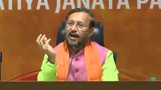 Joint Press Conference by Shri Prakash Javadekar & Shri Anil Baluni at BJP HQ, New Delhi