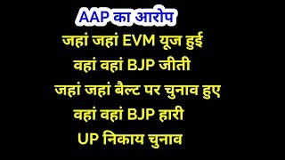 Aam Aadmi party Press conference on EVM issue : Delhi AAP PC