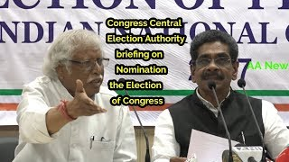 Congress Central Election Authority briefing on Nomination the Election  of Congress President