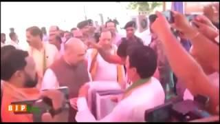 Shri Amit Shah at the Bhoomi Pujan of BJP office at Balangir, Odisha : 05.04.2018