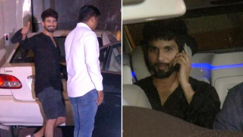 Shahid Kapoor Spotted At Ekta Kapoor Office