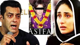 Salman Khan And Kareena Kapoor Strong Reaction On Asifa Kathua Case | Justice For Asifa