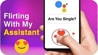 Flirting with My Assistant (Funny Replies by Google Assistant) | comedy video by Baklol Bunny